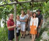 SlowGlobe enophiles touring a vineyard near Amalfi
