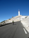 SlowGlobe cyclist descending Mont Ventoux in Provence - 2+ hours up & 15 minutes down!